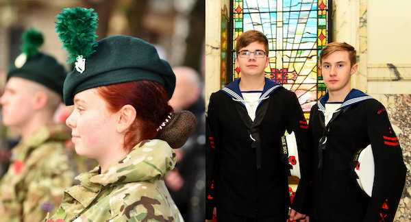 Cadets And Reservists From Across Northern Ireland Were Among Those Who Came To Pay Tribute The Fallen Of World War 1 In A Solemn Ceremony Held At